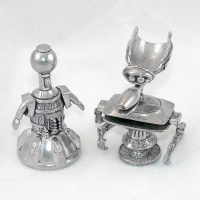 Pewter Tom Servo and Crow T. Robot from MYSTERY SCIENCE THEATER 3000