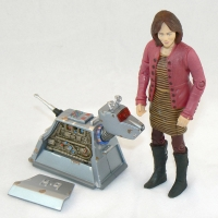 """Sarah Jane Smith and K-9 (rusty version) from """"School Reunion"""" (2006) (detail)"""