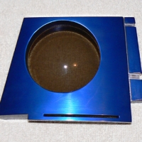 Anodized aluminum radar eye. The painted pieces are painted to match this color.