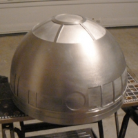 The dome, from the front, after hours and hours of polishing and cutting out the panels.