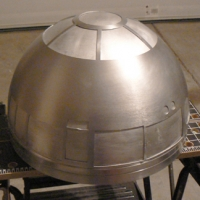 The polished and cut dome from the back.
