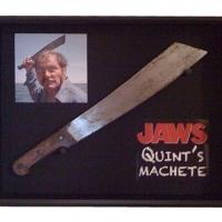 Quint's Machete (in a shadow box display)