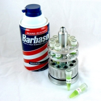 Dennis Nedry's fake Barbasol Can for smuggling DNA (open - vials are removable)