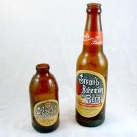 Vintage Stroh's Bohemian Style Beer Bottles
