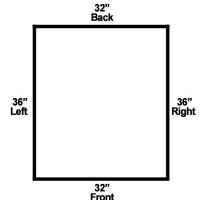 The base measurements.